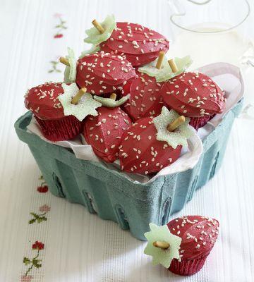 Strawberry cupcakes!: Idea, Recipe, Sweet, Food, Strawberries, Strawberry Cupcakes, Dessert
