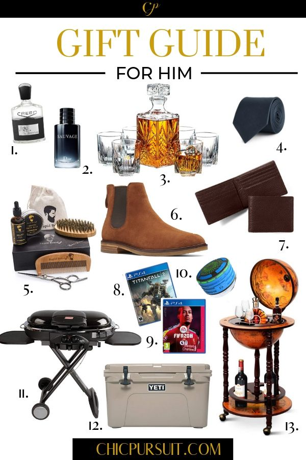 The Best Christmas Gift Ideas For Him Get The Perfect Gift For Your Boyfriend Brother Or Dad Mens Birthday Gifts Mens Gift Guide Gift Guide For Him