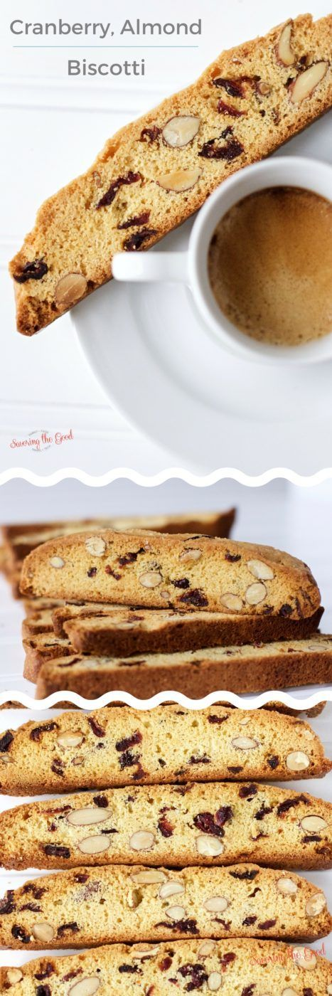 Cranberry, almond biscotti is perfect for enjoying alongside a cup of espresso or coffee drink. This easy Italian twice baked cookie is delicious to enjoy at home or package them up and give as a gift. Step by step recipe instructions are included. #ad fo