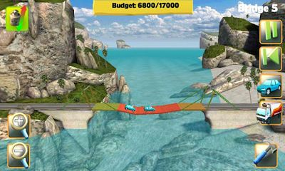 Bridge Constructor - Android game screenshots. Gameplay Bridge Constructor.