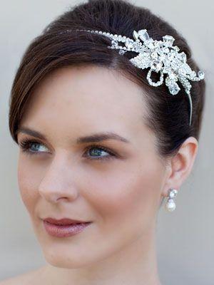 Rhinestone Bridal Headband Tiara by Hair Comes the Bride 9/14/13 #haircomesthebridewishlist