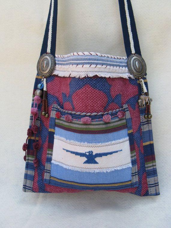 Southwestern Style Boho type Messenger Purse by FruitfullHands, $85.00
