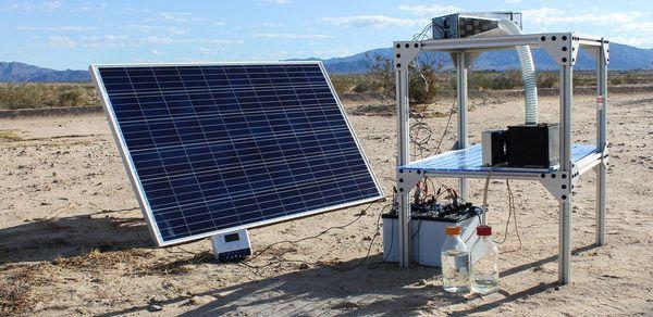 شباك بلوريه تستخلص المياه من الهواء وتحول ثاني أكسيد الكربون إلى وقود سائل اخترع بعض الكيميائيين في جامعه كاليفو Roof Solar Panel Outdoor Decor Solar Panels