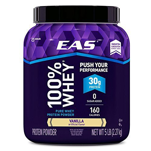 EAS 100% Pure Whey Protein Powder, Vanilla, 5 LB, 30 Grams of Whey Protein Per Serving (Packaging May Vary) //Price: $39.10 & FREE Shipping //     #hashtag4