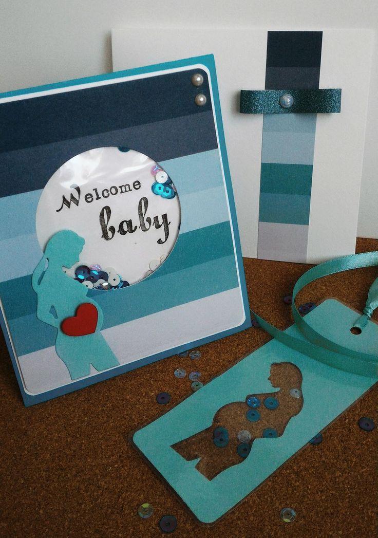 biglietto benvenuto welcome baby boy con segnalibro per la mamma : Biglietti di chiara-scrapchic