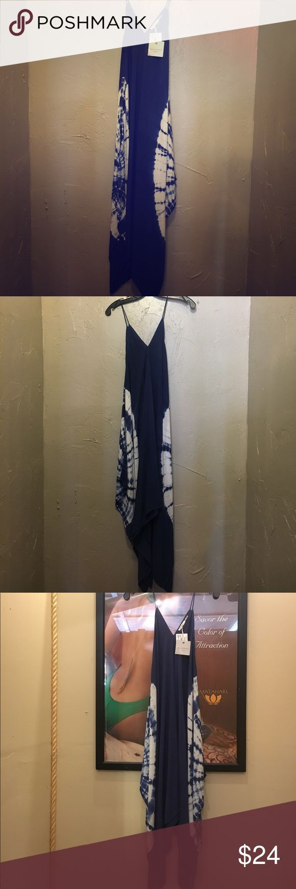 Blu Pepper Maxi Blu Pepper Tie dyed maxi. Spaghetti straps. Navy blue/white tie dye. Juniors style, but fits long and loose. Make an offer. Blu Pepper Dresses Maxi