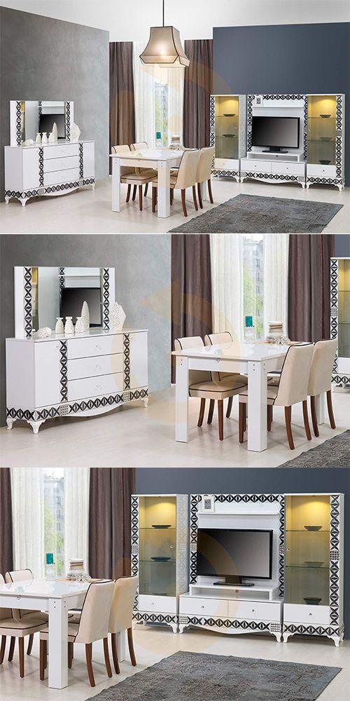 Petek yatak odası modeli , siyah beyaz uyumu avangard olan takımızla birleşince göze hitap eden şık görünüşüyle evinizin gözdesi olacak.