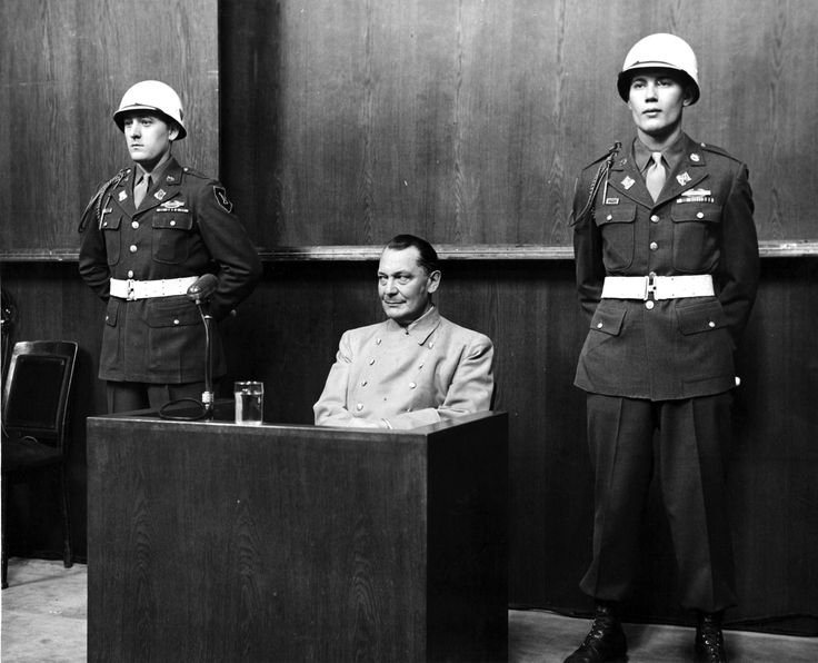 Hermann Göring at the Nuremberg Trials, 1946