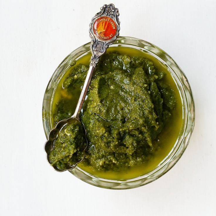 Quick & easy gluten & dairy-free vegan cashew pesto. From Absolute Potential