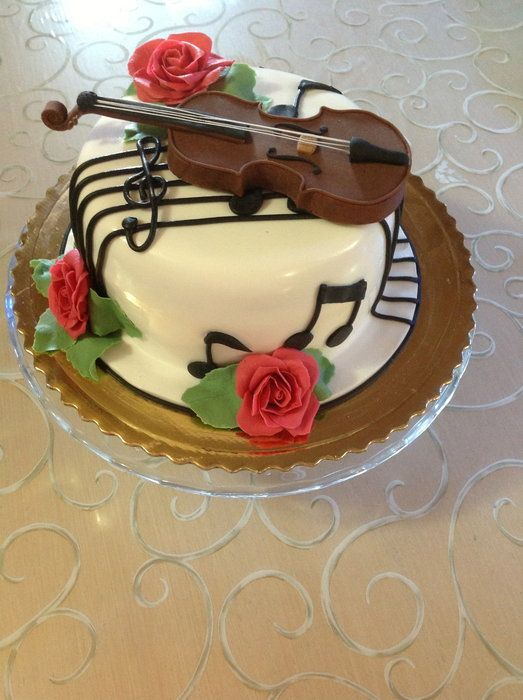 65 Best Images About Music Violin Cakes Cupcakes On