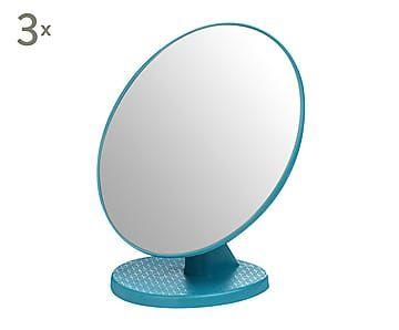 Set de 3 espejos de tocador - turquesa