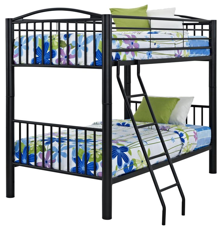 Youth Beds And Bunks Full Metal Bunk Bed By Powell Available In Pewter