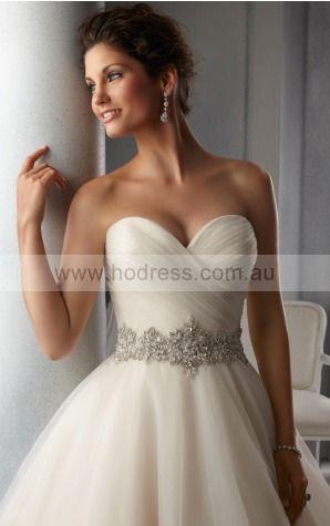 Ball Gown Sleeveless Sweetheart Buttons Floor-length Wedding Dresses fkbf1016--Hodress