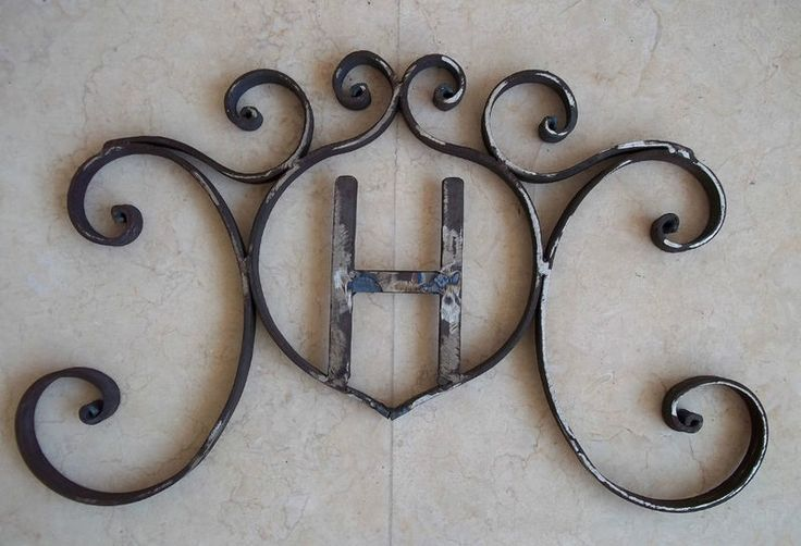 Details About Rustic Hand Forged Wrought Iron Monogram