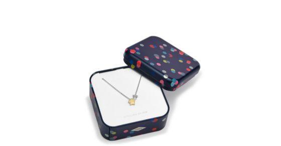 Eine elegante (Geschenk) Idee. Diese Kette aus Sterling Silber und dem vergoldeten Stern lässt Dein Outfit strahlen.