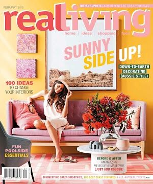Our Lily Sofa gracing the cover of February Issue of Real Living