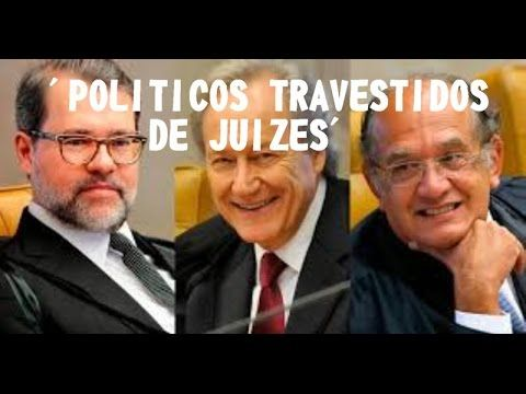 """""""Gilmar,Toffoli e Lewandowski são políticos travestidos de juízes"""",diz H..."""