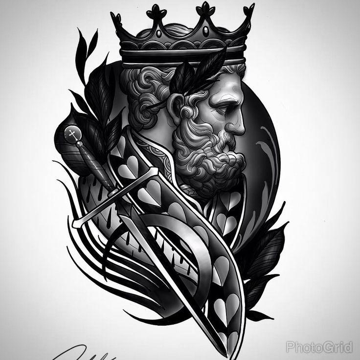 Best 20  Tatuagem Poseidon Ideas On Pinterest