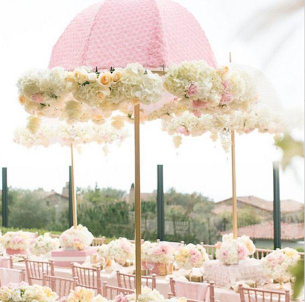 The 25 best ideas about umbrella centerpiece on pinterest for Baby shower umbrella decoration ideas