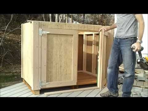 ▶ 8-How to Hang Shed Doors - How to Build a Generator Enclosure - YouTube