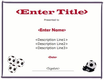 31 best images about certificate templates on pinterest for Soccer certificate templates