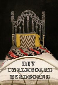 17 best ideas about chalkboard headboard on pinterest for Home decor 75063