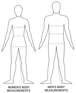 Blank Paper Doll Template | saucony body measurement guide