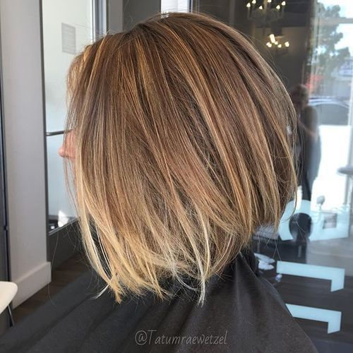 long dishevelled bob with ombre highlights