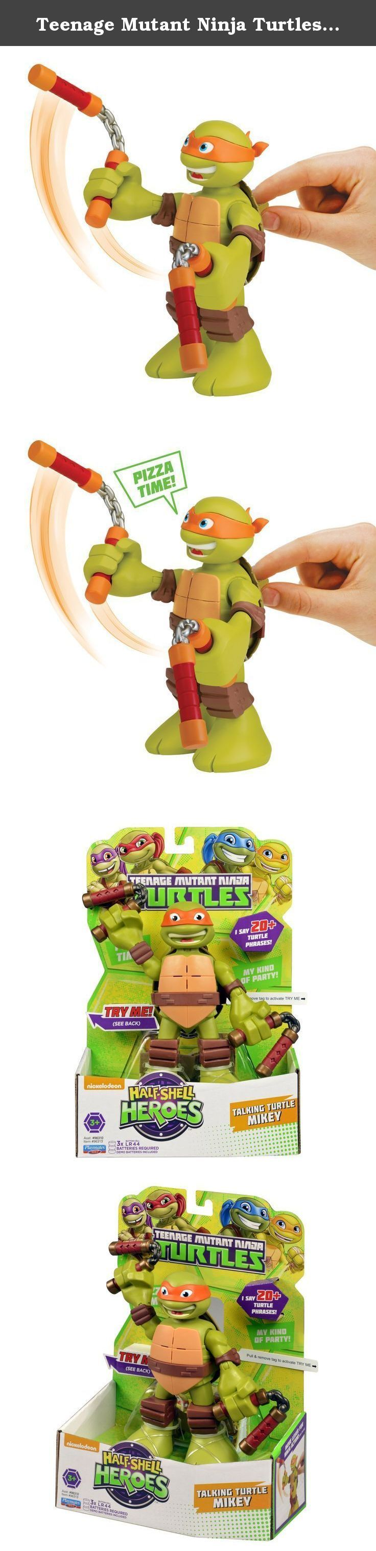 Teenage Mutant Ninja Turtles Pre-Cool Half Shell Heroes 6 Inch Michelangelo Talking Turtles Figure. Coming out of their shells for the very first time, the Half-Shell Heroes are ready for non-stop ninja adventure! You can join the fun-loving brothers in their pizza-fueled missions as they team up to mess with menacing mutants and stop the Shredder.