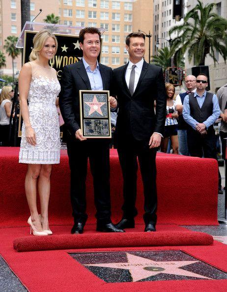 Carrie Underwood and Simon Fuller - Simon Fuller Honored On The Hollywood Walk Of Fame