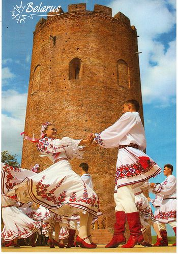 Traditional dancing and costumes from Belarus.