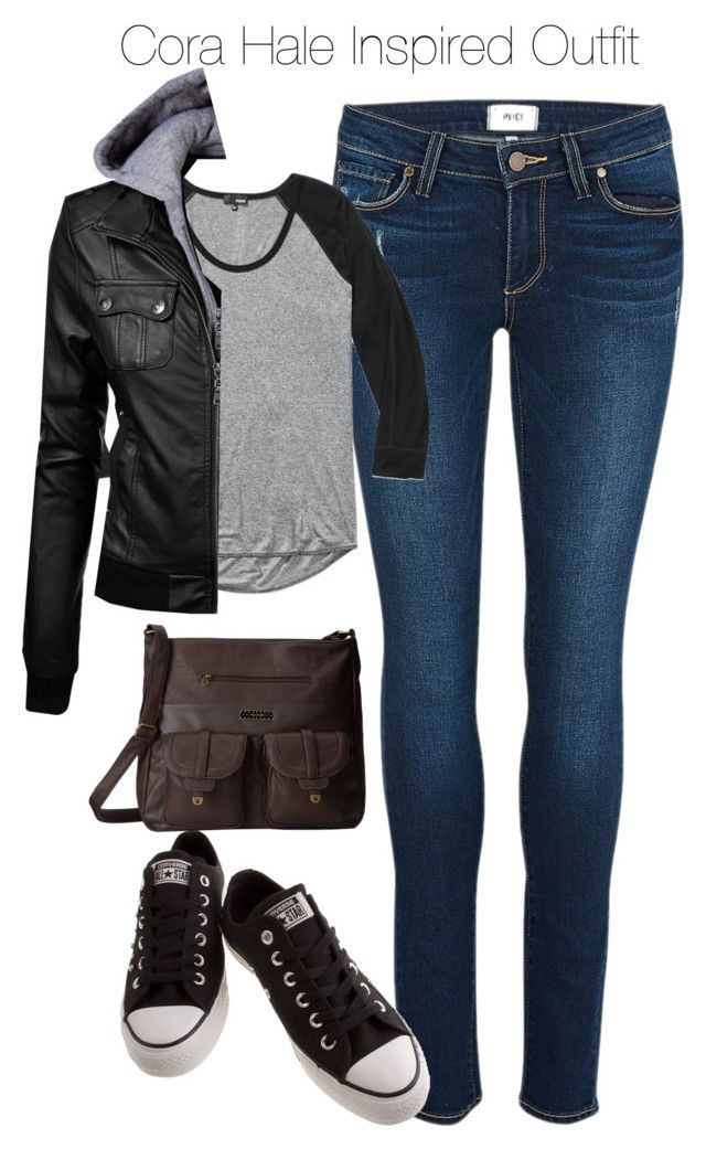 """Teen Wolf - Cora Hale Inspired Outfit with dark jeans"" by staystronng ❤ liked on Polyvore featuring Paige Denim, Wilfred Free, Converse, Volcom, tw and CoraHale"