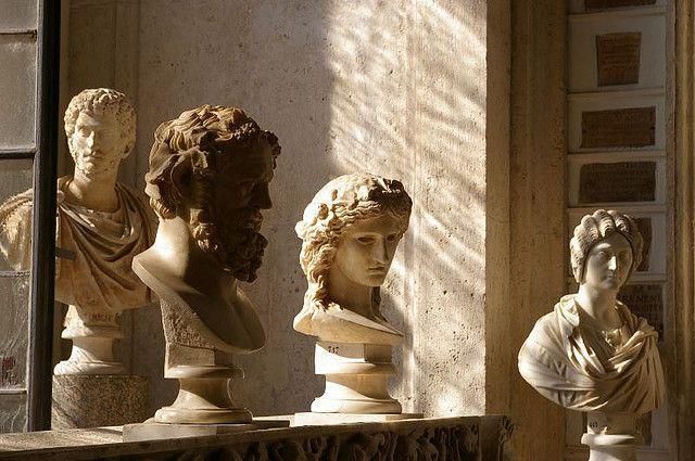silver-nina:  Marble busts.