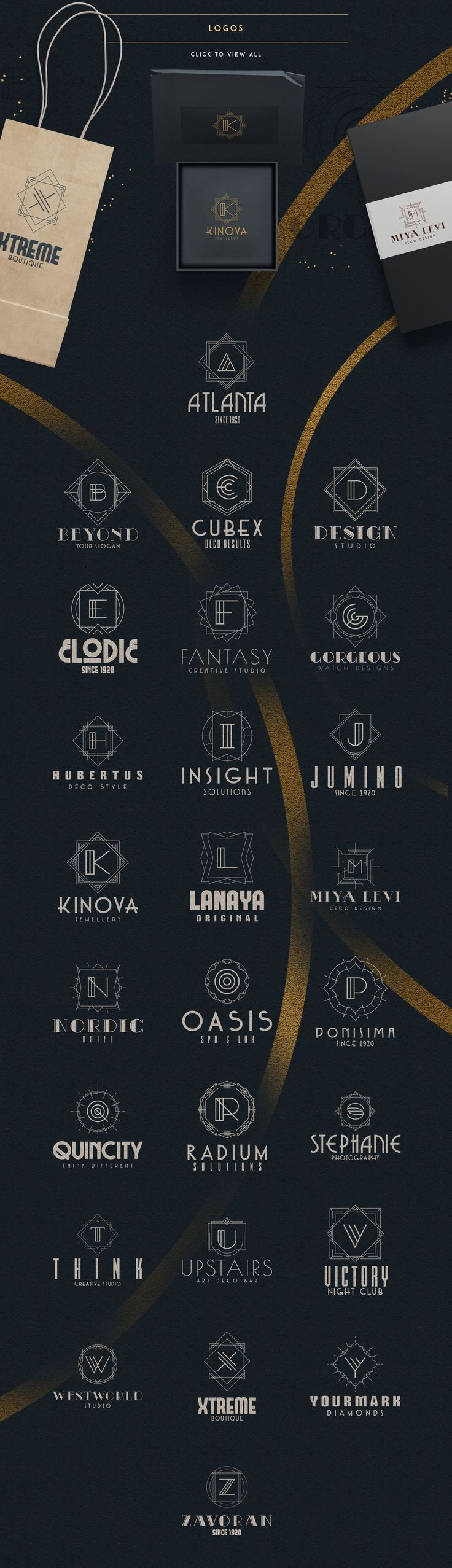 #ArtDeco Ultimate Collection | #logo #masterbundles