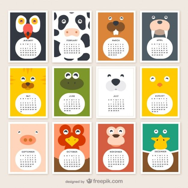 FREE Animal calendar 2015 download