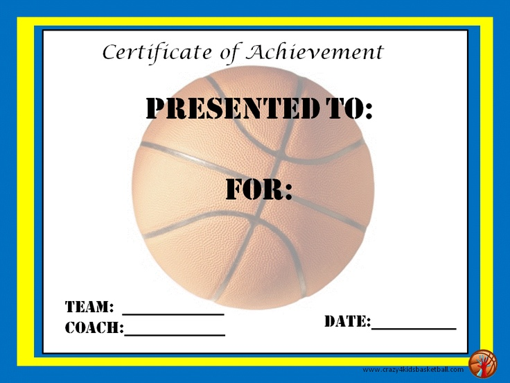 Basketball Award Certificates gift ideas Pinterest