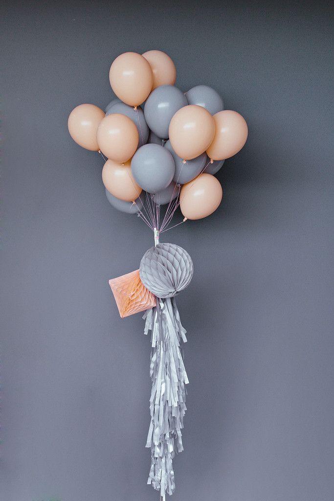 "Balloon Set : 11"" Grey"