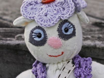 Fancy Nancy Sock Teddy available to purchase NZD$35.00+postage