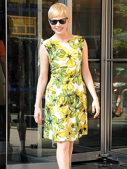 Michelle Williams is gamine summer perfection. Love this dress.