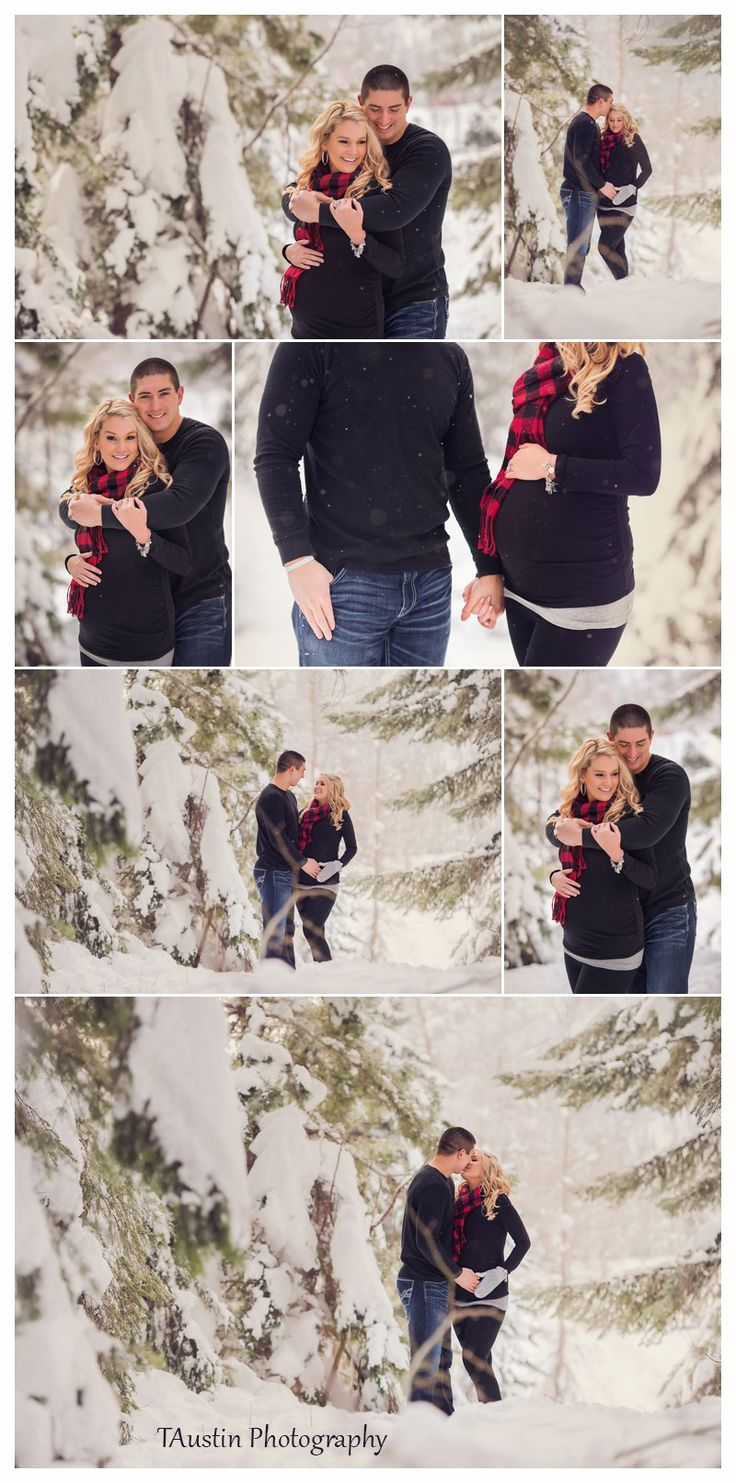 Winter Snow Maternity Photos TAustin Photography 7