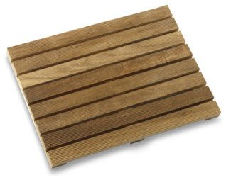 Teak Shower Mat - asian - bath mats - donna