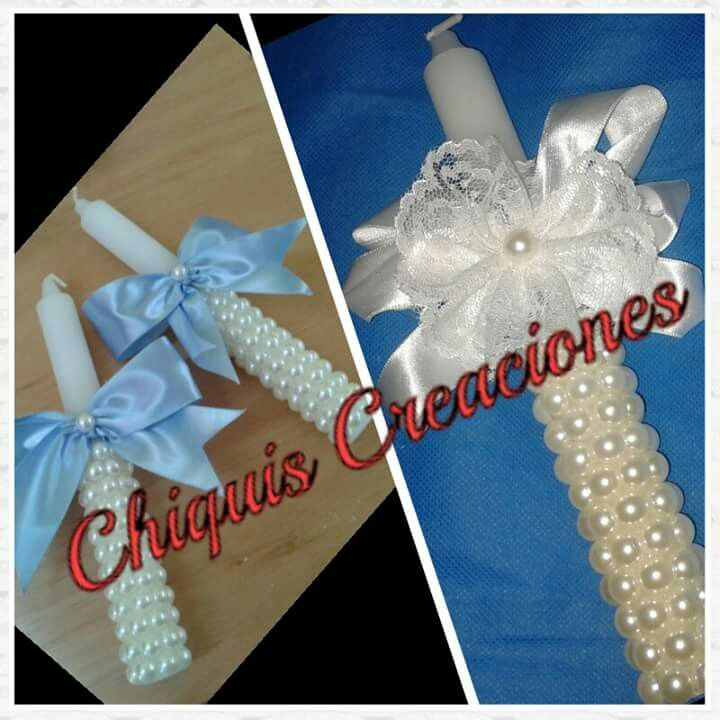 Velas decoradas para primera comunión