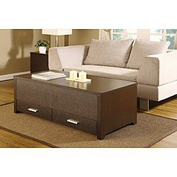KNOX COFFEE TABLE. THIS CONTEMPORARY STORAGE BOX TABLE COMBINES PLENTY OF SPACE AND A SLIDING TABLE TOP PANEL. THIS DARK ESPRESSO COFFEE TABLE - Click image twice for more info - See a larger selection of  coffee tables with storage at http://zcoffeetables.com/product-category/coffee-tables-with-storage/ - home, home decor, home ideas, home furniture, office furniture, table, gift ideas, living room