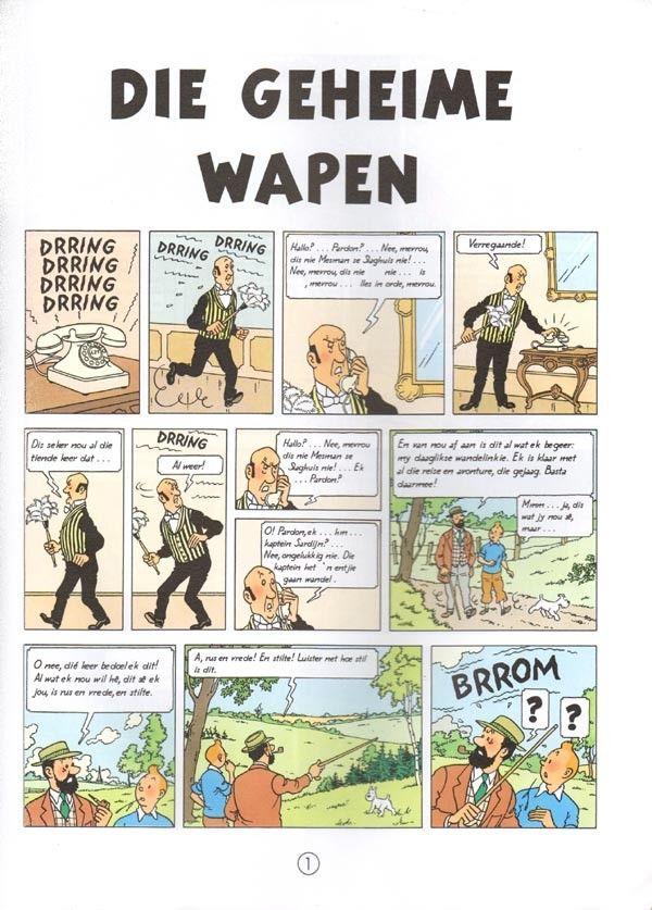 Tintin (en langues étrangères) -18Afrikaans- Die Geheime Wapen