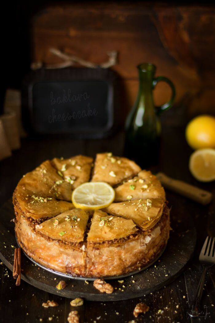 The best of two worlds are combined in this luscious baklava cheesecake. East meets West in the most delicious way possible.