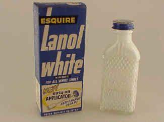 Polish those saddle shoes and  baby shoes with Lanol White!