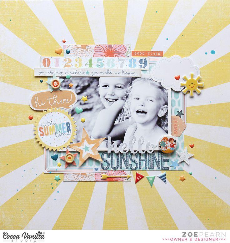 Hello Sunshine Layout | Zoe Pearn | Cocoa Vanilla Studio