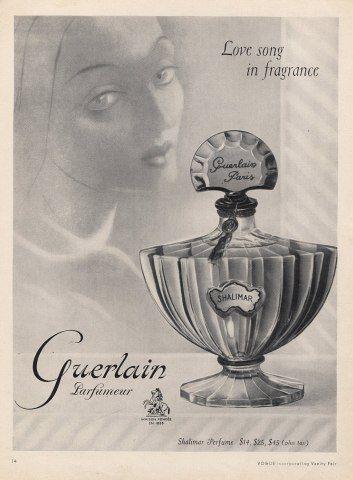 Guerlain 1952 Shalimar, Cassandre