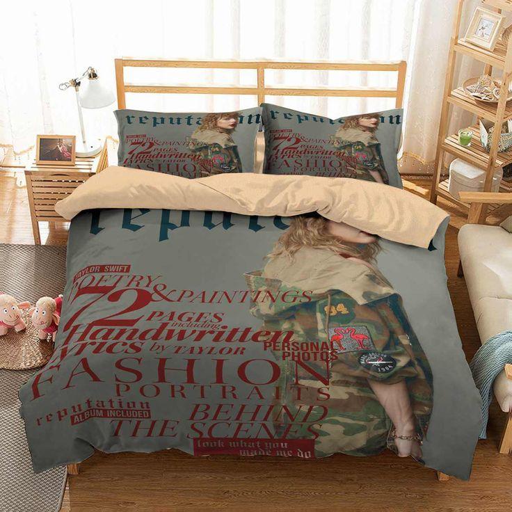 3D Customize Taylor Swift Bedding Set Duvet