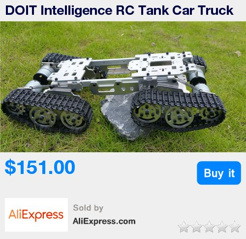 DOIT Intelligence RC Tank Car Truck Robot Chassis 393mm*206mm*84mm CNC Alloy body+4 Plastic tracks + 4 Motors DIY RC Toy * Pub Date: 13:12 Sep 18 2017